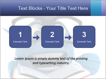 Blue Fish With Books PowerPoint Template - Slide 71