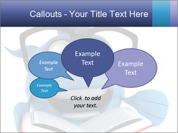 Blue Fish With Books PowerPoint Template - Slide 73