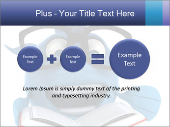 Blue Fish With Books PowerPoint Template - Slide 75
