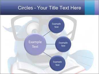 Blue Fish With Books PowerPoint Template - Slide 79