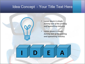 Blue Fish With Books PowerPoint Template - Slide 80