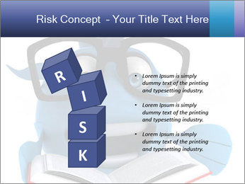 Blue Fish With Books PowerPoint Template - Slide 81