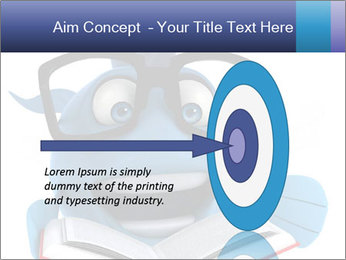 Blue Fish With Books PowerPoint Template - Slide 83