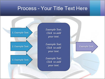 Blue Fish With Books PowerPoint Template - Slide 85
