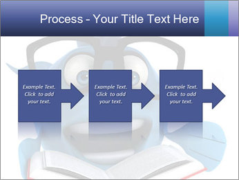 Blue Fish With Books PowerPoint Template - Slide 88