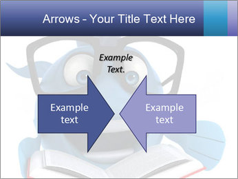 Blue Fish With Books PowerPoint Template - Slide 90