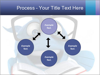 Blue Fish With Books PowerPoint Template - Slide 91