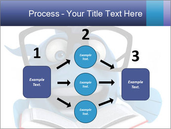 Blue Fish With Books PowerPoint Template - Slide 92