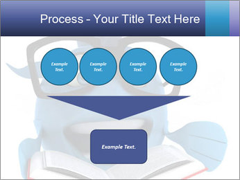 Blue Fish With Books PowerPoint Template - Slide 93