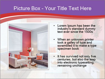 Red-Colored Livingroom PowerPoint Template - Slide 13