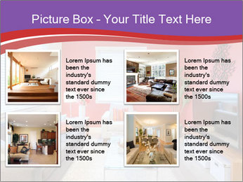 Red-Colored Livingroom PowerPoint Template - Slide 14