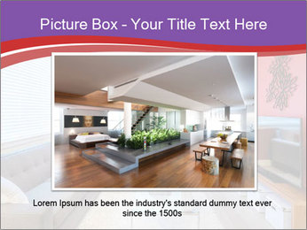 Red-Colored Livingroom PowerPoint Template - Slide 15