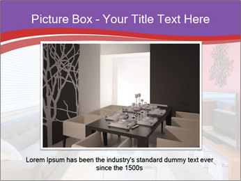 Red-Colored Livingroom PowerPoint Template - Slide 16