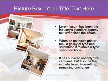 Red-Colored Livingroom PowerPoint Template - Slide 17