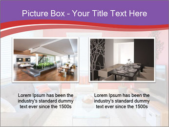 Red-Colored Livingroom PowerPoint Template - Slide 18