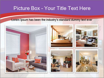 Red-Colored Livingroom PowerPoint Template - Slide 19