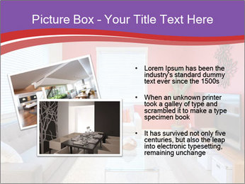 Red-Colored Livingroom PowerPoint Template - Slide 20