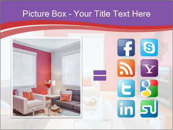 Red-Colored Livingroom PowerPoint Template - Slide 21
