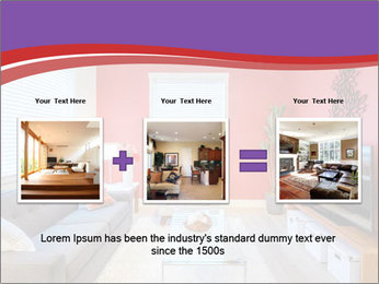 Red-Colored Livingroom PowerPoint Template - Slide 22