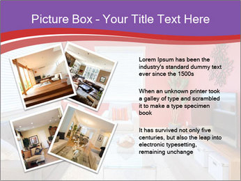 Red-Colored Livingroom PowerPoint Template - Slide 23