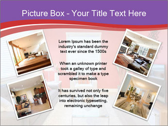 Red-Colored Livingroom PowerPoint Template - Slide 24