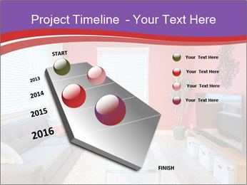 Red-Colored Livingroom PowerPoint Template - Slide 26