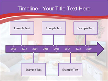 Red-Colored Livingroom PowerPoint Template - Slide 28