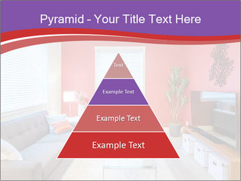 Red-Colored Livingroom PowerPoint Template - Slide 30