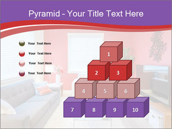 Red-Colored Livingroom PowerPoint Template - Slide 31