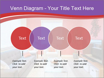 Red-Colored Livingroom PowerPoint Template - Slide 32