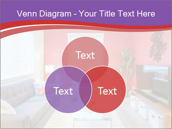 Red-Colored Livingroom PowerPoint Template - Slide 33