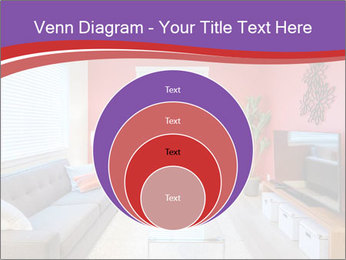 Red-Colored Livingroom PowerPoint Template - Slide 34