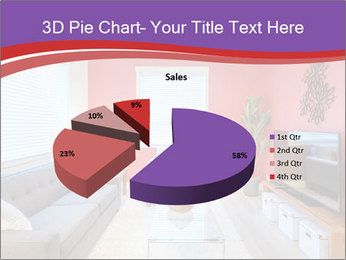 Red-Colored Livingroom PowerPoint Template - Slide 35