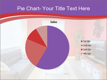 Red-Colored Livingroom PowerPoint Template - Slide 36