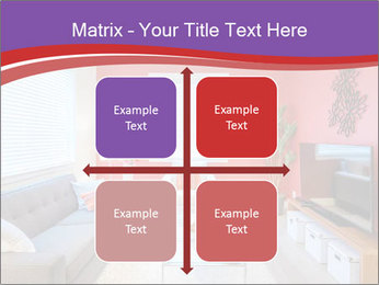 Red-Colored Livingroom PowerPoint Template - Slide 37