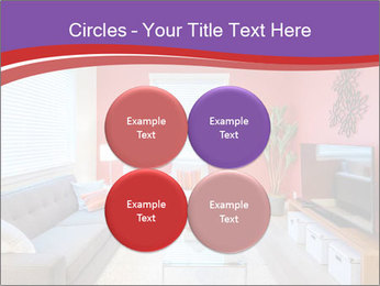 Red-Colored Livingroom PowerPoint Template - Slide 38