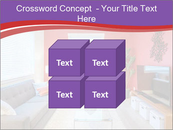 Red-Colored Livingroom PowerPoint Template - Slide 39