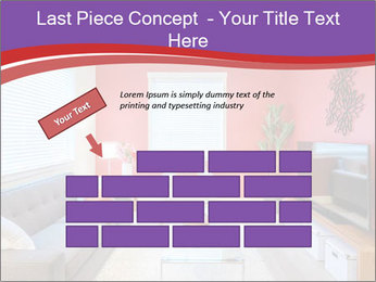 Red-Colored Livingroom PowerPoint Template - Slide 46