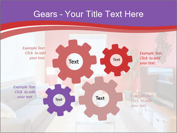 Red-Colored Livingroom PowerPoint Template - Slide 47