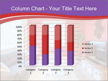 Red-Colored Livingroom PowerPoint Template - Slide 50