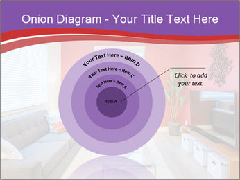 Red-Colored Livingroom PowerPoint Template - Slide 61