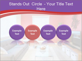 Red-Colored Livingroom PowerPoint Template - Slide 76