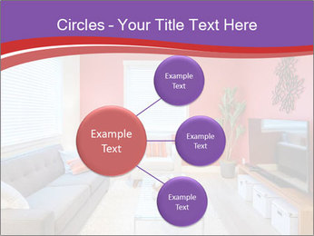 Red-Colored Livingroom PowerPoint Template - Slide 79