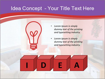 Red-Colored Livingroom PowerPoint Template - Slide 80