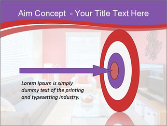 Red-Colored Livingroom PowerPoint Template - Slide 83