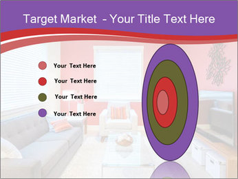 Red-Colored Livingroom PowerPoint Template - Slide 84
