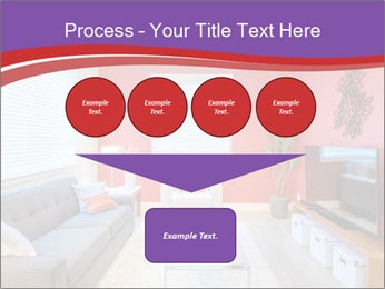 Red-Colored Livingroom PowerPoint Template - Slide 93