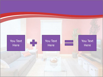 Red-Colored Livingroom PowerPoint Template - Slide 95