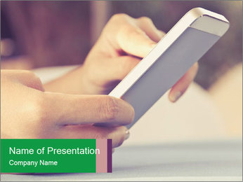 Mobile Communication PowerPoint Template - Slide 1