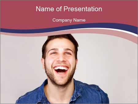 Friendly Man PowerPoint Template